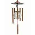 Flipo Illuminated Solar Wind Chime, Copper