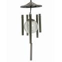 Flipo Illuminated Solar Wind Chime, Stainless Steel