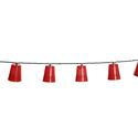 10 Mini Red Party Cup Lights, 8'6