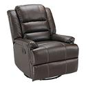 Swivel Glider Recliner, Chocolate
