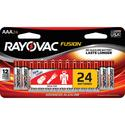 Rayovac Fusion AAA Batteries, 24 Pack