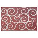 Reversible Patio Mats, 9' x 12' Swirl Design Terracotta/Cream