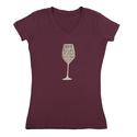Womens Drink Red Wine Tee, Plum Medium