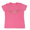Womens Bright Palms Tee, Pink Medium