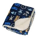 Reversible Sherpa Throw, 50 x 60, Navy