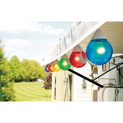 10 Multicolor Globe Lights with 50' Cord