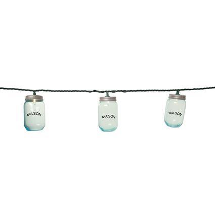 10 Mini Mason Jar Lights, 7'8