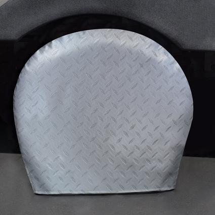 Diamond Plate Silver Tyre Gards, 30