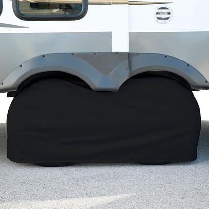 Elements Black Double Tire Cover, 27
