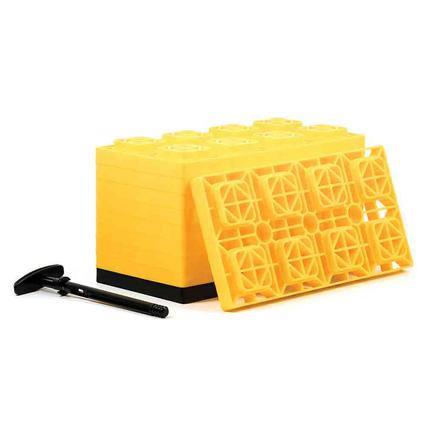 FasTen Heavy-Duty Leveling Blocks for Dual Wheels, Set of 10