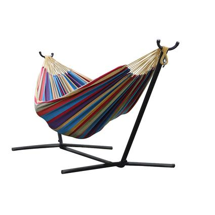 Vivere's Combo - Double Tropical Hammock with Stand (9ft)