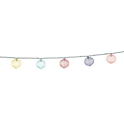 Retro Globe Lights, 10 Mini Bulbs, 7'8