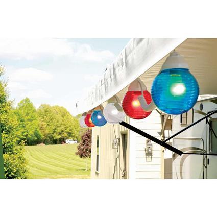 Patriotic Globe Lights, 20', 6 Bulbs