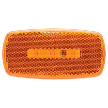 Oval LED Clearance/Marker Light Replaceable Lens Fleet Count Amber