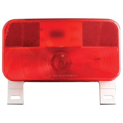 RV Stop/Tail/Turn Tail Light w/ illuminator White Base, Red