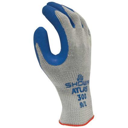 Blue Latex-Dip Gloves, XL