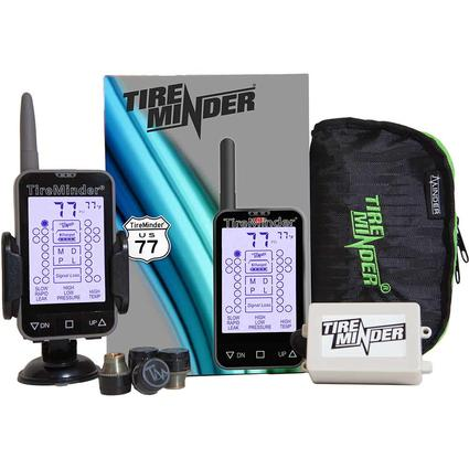 TireMinder TM-77 Tire Pressure Monitoring System with 4 Transmitters for RVs, MotorHomes, 5th Wheels, Motor Coaches and Trailers