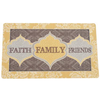 "Kitchen Comfort Mats, 18"" x 30"", Faith Family Friends"