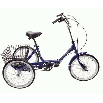 Adventurer 3-Speed Folding Trike, Blue