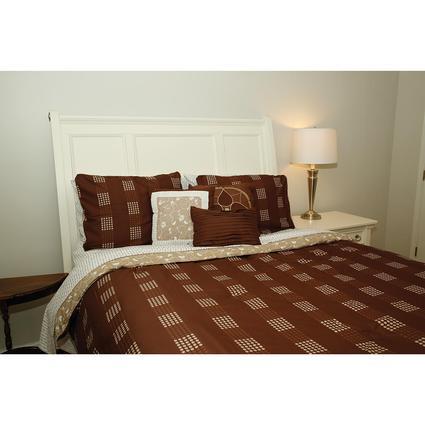 Designer 10 Piece Bedding Set - Short Queen, Chocolate