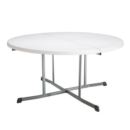 Round Commercial Fold-In-Half Table, 60