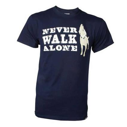 Dog is Good Never Walk Alone Tee Shirt, XXL