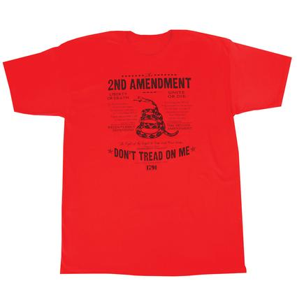Mens Dont Tread On Me Tee, Red Large