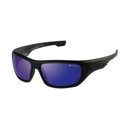 NASCAR Collection Sunglasses, Black Frames with Dark Violet Lenses