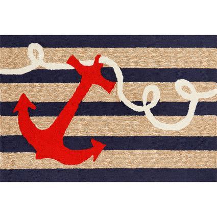 Navy Anchor Rug, 24