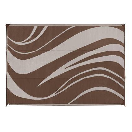 Reversible Patio Mat, 9 x 12, Brown