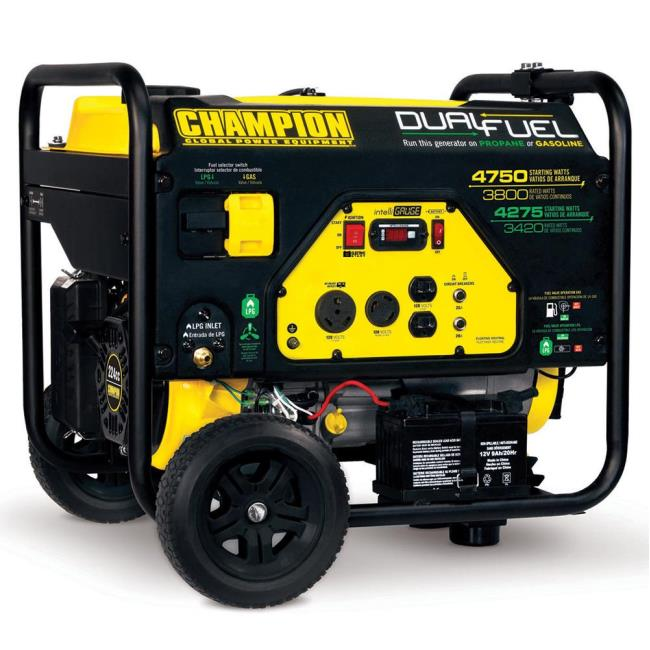 portable generators. Image Champion 3800 Watt Dual Fuel Portable Generator. To Enlarge The Image, Click Or . Generators