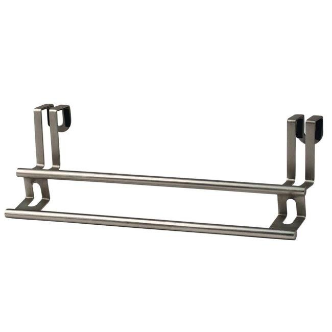 double towel bar brushed nickel. Image Over-Cabinet Double Towel Bar, Brushed Nickel Finish. To Enlarge The . Bar