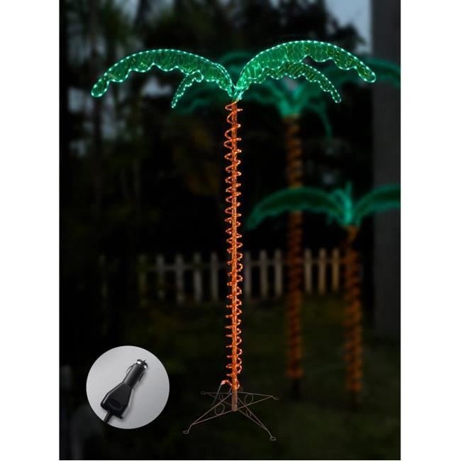 Image 12V LED Palm Tree Rope Light, 7u0026apos. To Enlarge The Image, Click .