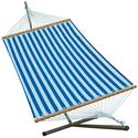 Fabric Hammock and Stand Combination, Blue - 11'