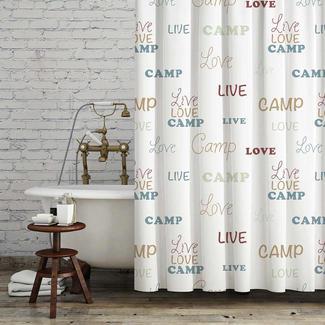 live love camp bath set white