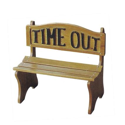 Wooden Time Out Kiddie Bench