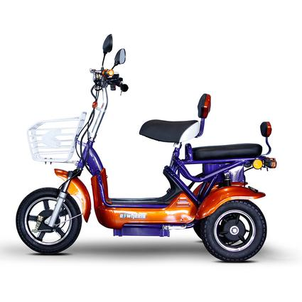 Crossover 2 Passenger Scooter, Blue/Orange
