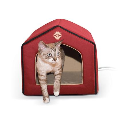Thermo-Indoor Pet House, Red/Tan