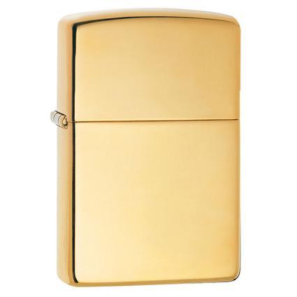 High Polish Zippo Lighter, Brass Finish