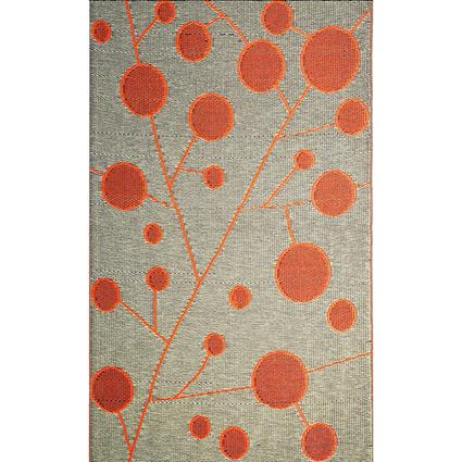 b.b.begonia Cotton Ball Brown/Orange Reversible Outdoor Rug, 6 x 9