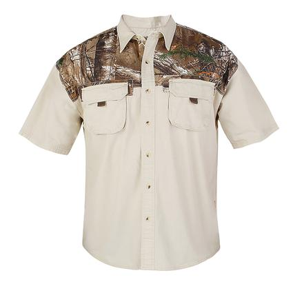 Realtree Men's Ripstop Camp Shirt, Silver Birch, Medium