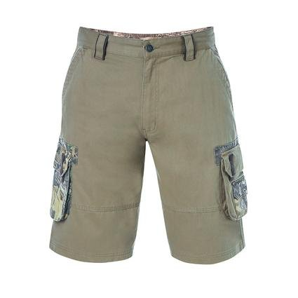 Realtree Men's Twill Cargo Short, Covert Green, 48x32