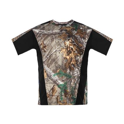 Realtree Men's Short Sleeve Active Tee, Black, Large