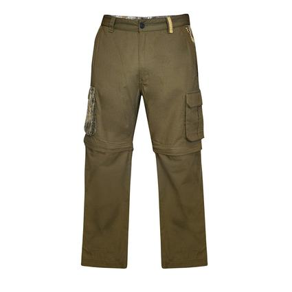 Realtree Men's Ripstop Zip-Off Cargo Pant, Covert Green, 46x32