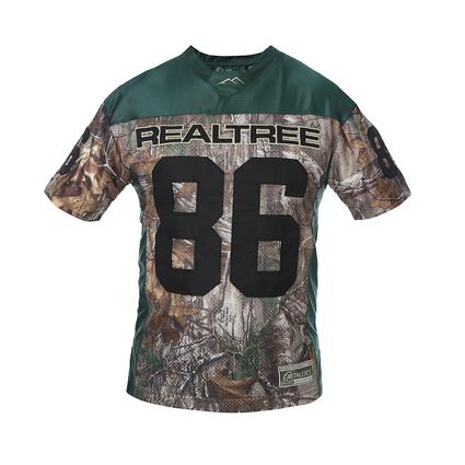 Realtree Men's '86 Football Jersey, Green, XXL