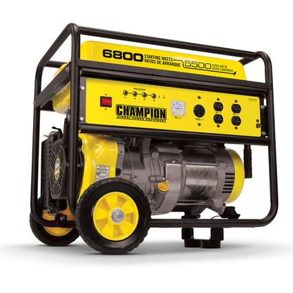 Champion 5500 Watt Portable Generator with Wheel Kit
