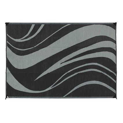 Reversible Patio Mat, 6 x 9, Black/Gray