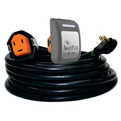 30 Amp 30' Cordset and Non-Metallic Inlet, Black/Gray
