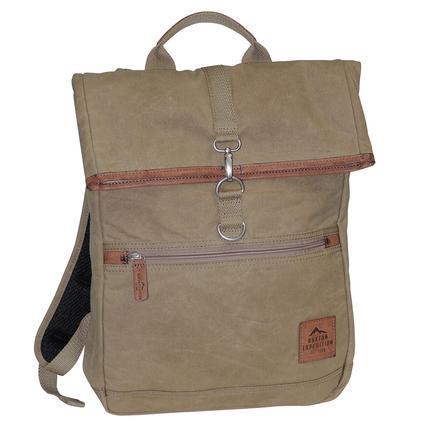 Buxton Huntington II Fold-Over Backpack, Tan