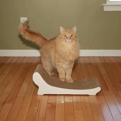 Cat Scratcher, White